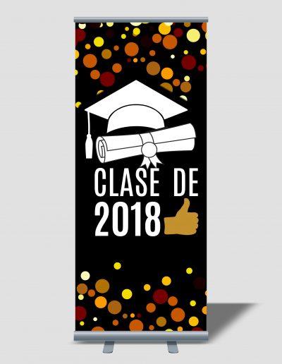 Rollup para fiesta de graduación