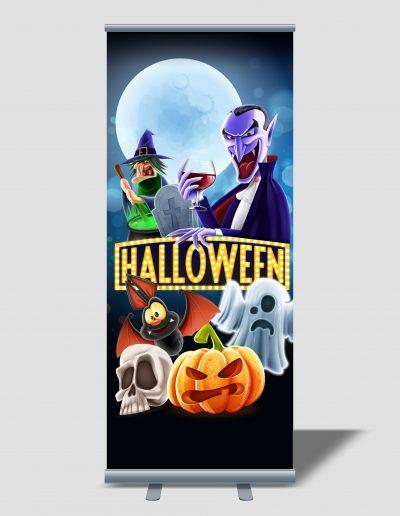 Rollup para fiesta de Halloween